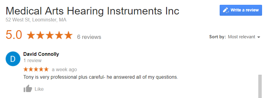 S9098 Medical Ars Hearing Instrument_Google Review_David C