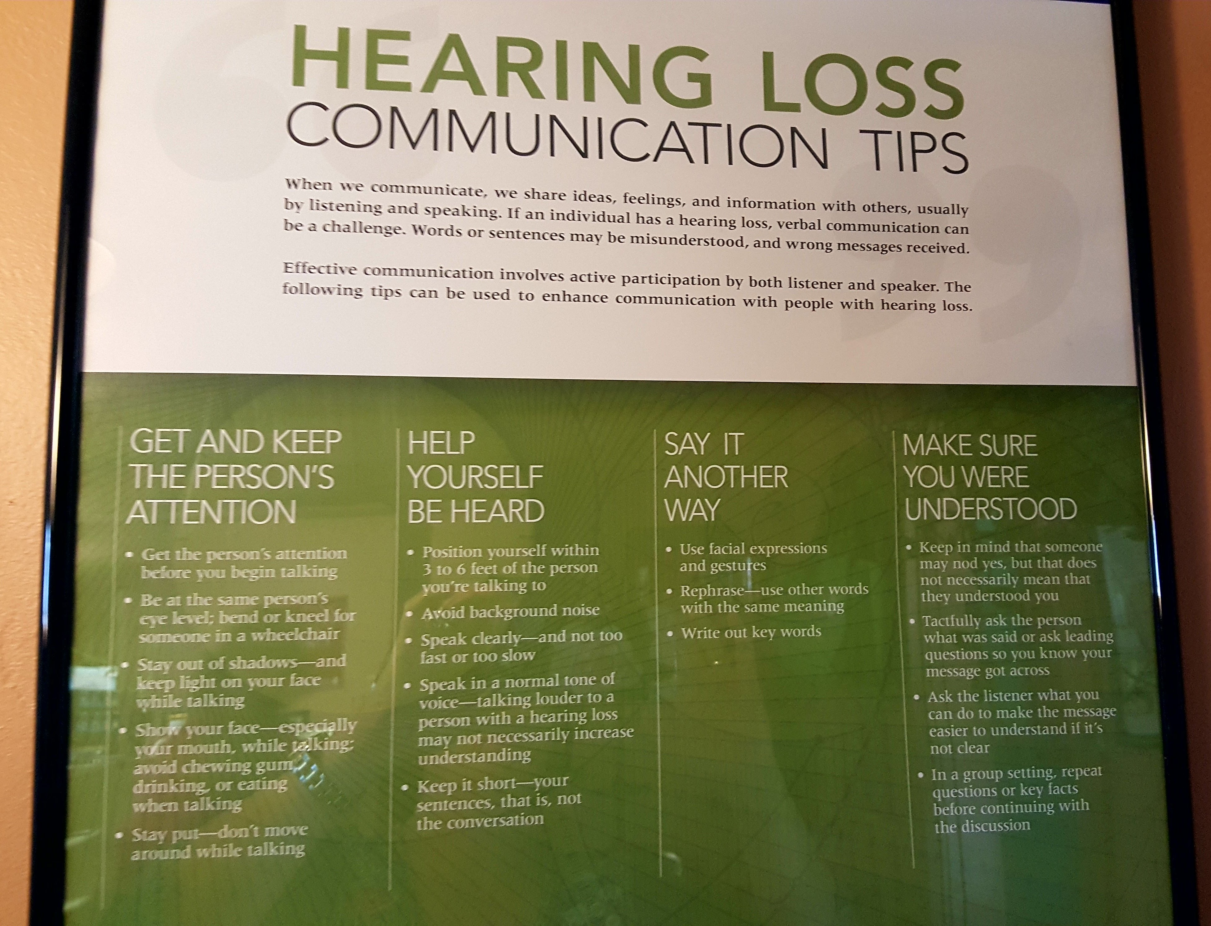 hearing loss communication tips